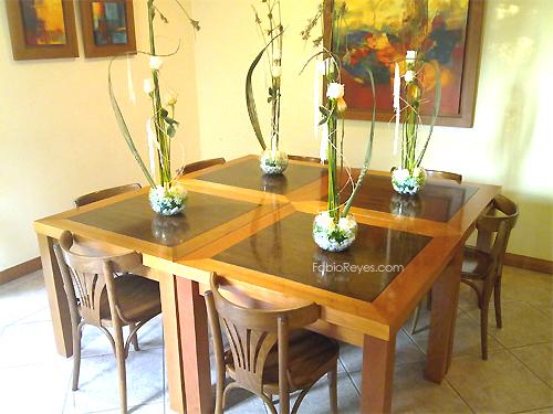 Florer as en las condes enviar flores a domicilio flores for Centros de mesa con peceras